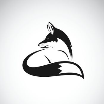 Vector of a fox design on white background. Easy editable layered vector illustration. Wild Animals.
