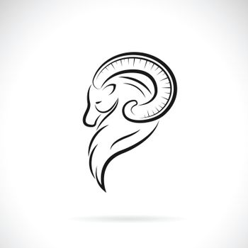 Vector of goat head design on white background. Easy editable layered vector illustration. Wild Animals.