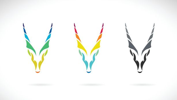 Vector of goat head or goral design on white background. Easy editable layered vector illustration. Wild Animals.