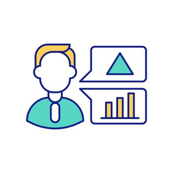 Measurement instruments RGB color icon. Data collection and analyzing of statistical operations. Observational and experimental information. Studying facts. Isolated vector illustration