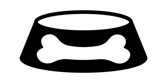Cat dog food bowl icon pet food bowl stock illustration