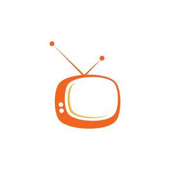 TV logo vector flat design