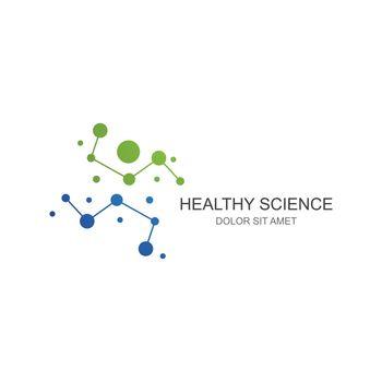 Molecule logo illustration vector template