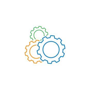Gear technology logo vector illustration design
