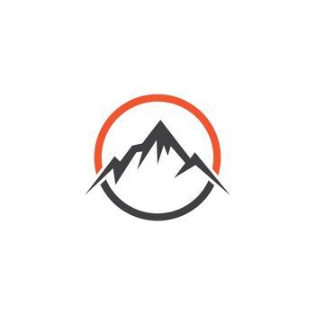 Mountain illustration nature logo vector