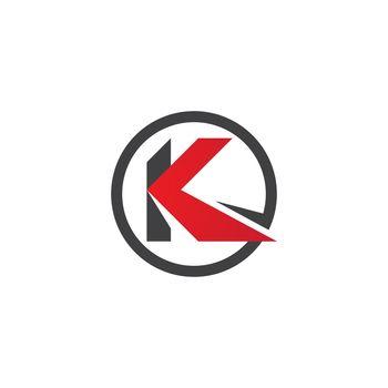 K initial letter logo vector flat design