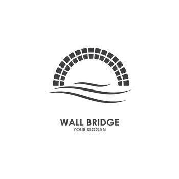 Wall bridge logo illustration vector design
