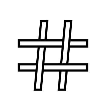 Hashtag icon tag logo symbol stock illustration