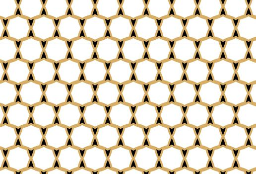 Vector seamless pattern, abstract texture background, repeating tiles in three colors.