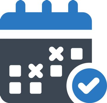 Schedule planning icon. Vector EPS file. icon. Vector EPS file.
