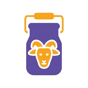 Can container for milk glyph icon. Farm animal sign. Graph symbol for your web site design, logo, app, UI. Vector illustration