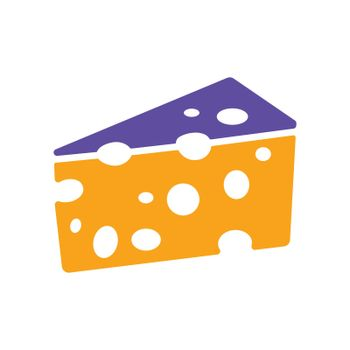 Piece of cheese glyph icon. Farm animal sign. Graph symbol for your web site design, logo, app, UI. Vector illustration