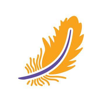 Feather glyph icon. Farm animal sign. Graph symbol for your web site design, logo, app, UI. Vector illustration