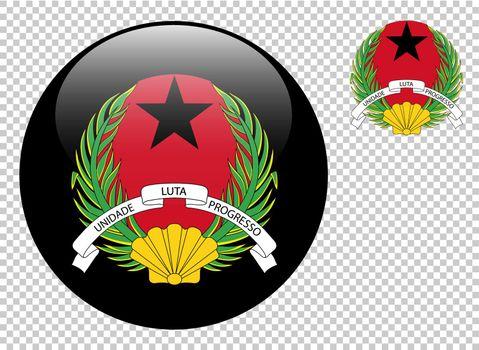 Coat of arms of Guinea-Bissau vector illustration on a transparent background