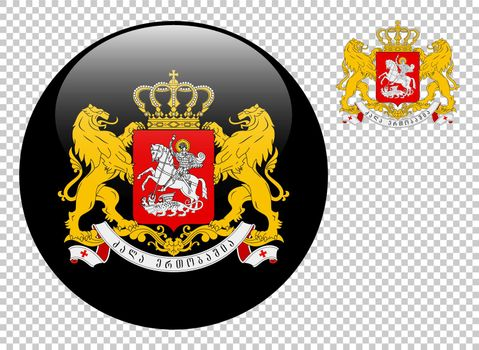 Coat of arms of Georgia vector illustration on a transparent background