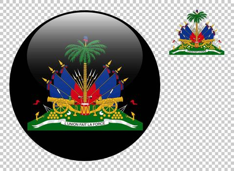 Coat of arms of Haiti vector illustration on a transparent background