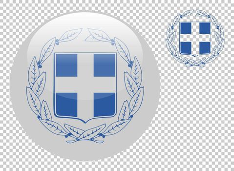 Coat of arms of Greece vector illustration on a transparent background
