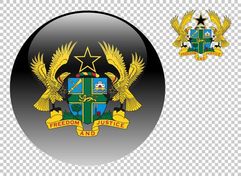Coat of arms of Ghana vector illustration on a transparent background