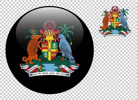 Coat of arms of Grenada vector illustration on a transparent background