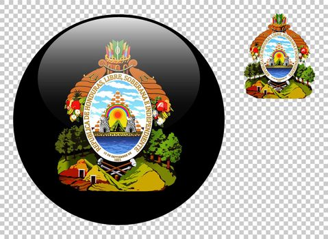Coat of arms of Honduras vector illustration on a transparent background