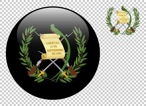 Coat of arms of Guatemala vector illustration on a transparent background