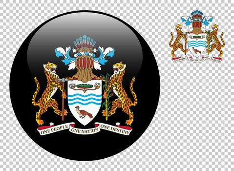 Coat of arms of Guyana vector illustration on a transparent background