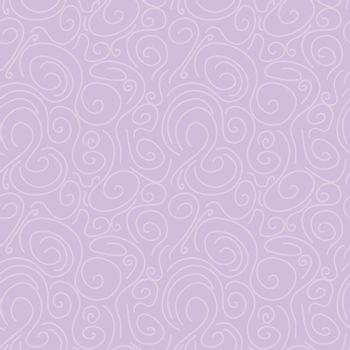 soft lavender circular lines hand drawn brushstroke seamless pattern. vector doodle endless pattern for textile wrapping digital paper template.