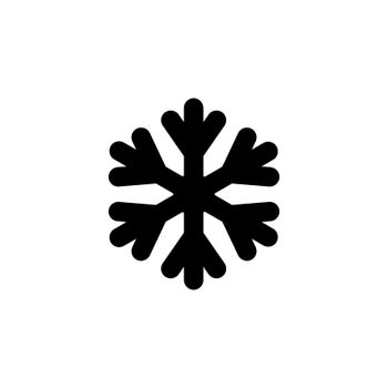 Snowflakes vector glyph icon. Meteorology sign. Graph symbol for travel, tourism and weather web site and apps design, logo, app, UI
