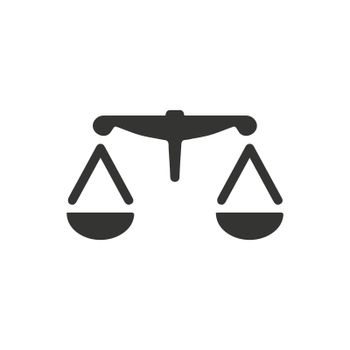 Balance icon. Meticulously designed vector EPS file.