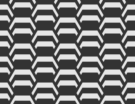 seamless geometric pattern creates a hexagon. An ornament for texture, textiles and simple backgrounds. Flat style