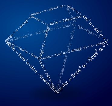 Volumetric figure of trigonometric formulas