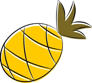 Cartoon pineapple. eps10