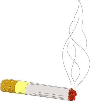 Sketch cigarettes. eps10
