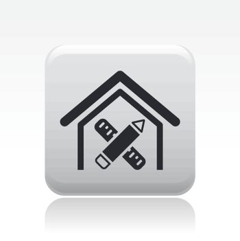 Vector illustration of single isolated home design icon