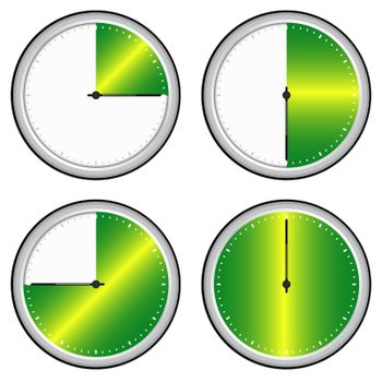 Vector illustration of single isolated time steps icon