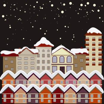 Night city. eps10