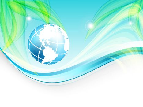environmental vector concept background with globe. Eps10