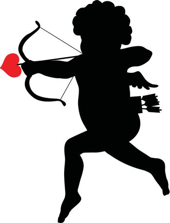 Shooting Cupid silhouette and vintage frame