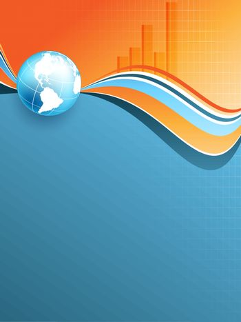 abstract vector statistic backdrop with bar graphs. Eps10