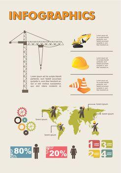 Set elements of infographics, construction. vector illustration