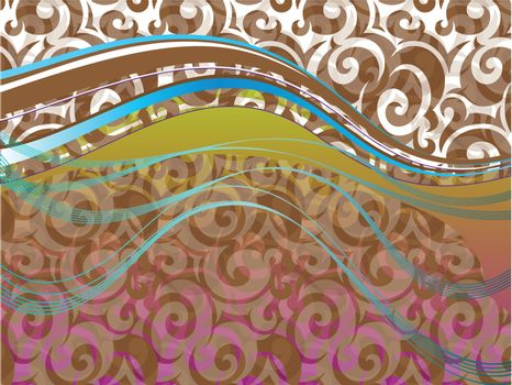 Abstract graceful backgrounds set vector