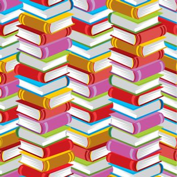 colorful repeating seamless vector patterns books
