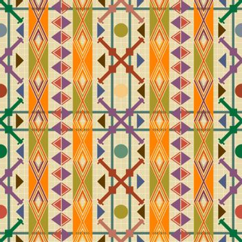 Seamless pattern decor in american indian style