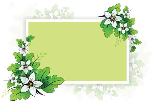 Flower background with empty board for your design
