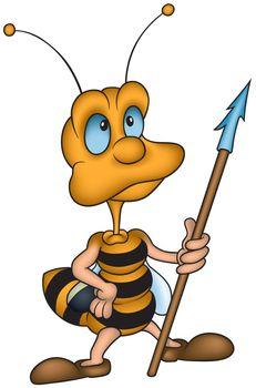 Wasp Guard - Colored Cartoon illustration, Vector