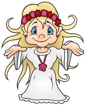 Fairy - Colored Cartoon Illustration, Vector