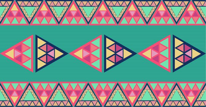 Trendy colorful triangles seamless pattern background. Vector file layered for easy editing.