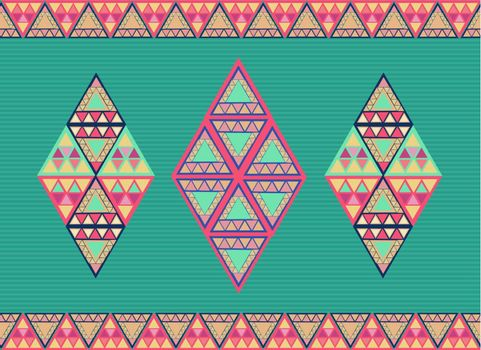 Trendy colorful abstract triangles seamless pattern background. Vector file layered for easy editing.