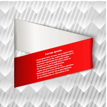 Infographics element on a geometric background