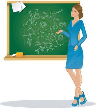 Vector illustration of Beautiful teacher